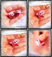 Kirby earring final by chibiamigurumi31
