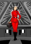 Lady in red by Nefer-Ra