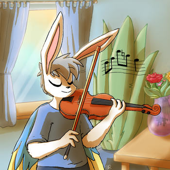 Playing the Violin by ShinyRaupy