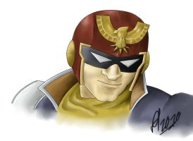 Captain Falcons Epic Grin by Altair01