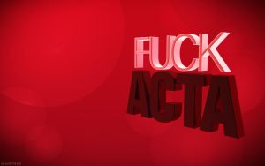 Fuck ACTA Red by Snakesan