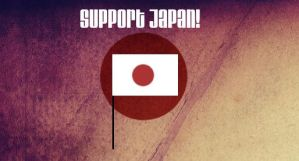Prayer and Support for Japan by LaMoonstar