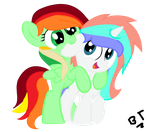 My 2 new oc's by TheMajesticButter394