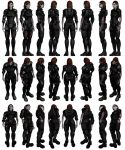 Mass Effect 3, Female Shepard Damaged Armour. by Troodon80