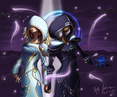 Light and Darkness by lethalfairy