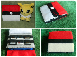 Nintendo 2DS Case: Pokeball by Yukaita