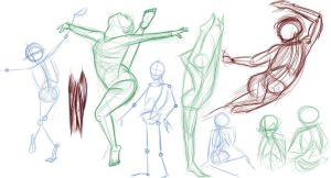 Human Action Poses - 1 by Mitch-el