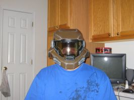 Halo Reach WIP 5 - Noble Six Helmet by Ivorybacon