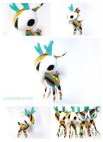 Bold Geometry Deer Plush by pookat