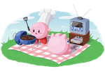 Kirby and Jigglypuff's Picnic by SunnieF