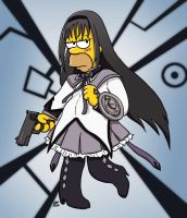 Homura Simpson by GlamourKat