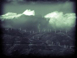 windmills cemetery by whaeah
