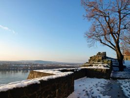 Snow and the Danube by AgiVega