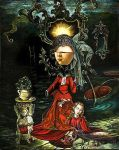 Carrie Ann Baade - The Bride Stripping the Bachelo by QCC-Art