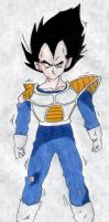 Hardcore Vegeta by TeenBulma
