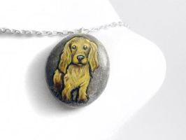 Cocker Spaniel Pendant Necklace by sobeyondthis