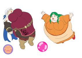 :COM: Bloated Micaiah and Elincia by Arrowny18
