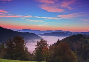 Fog over the valley by lica20