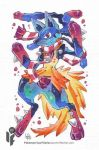 Pokemon Scarf Series: Mega Lucario 7/9 by cheru3