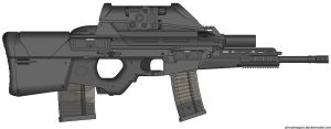 My HK Herstal OICW II (Light Assault,Launcher) by Scarlighter