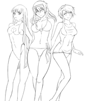 Lineart - Summertime by Suihara
