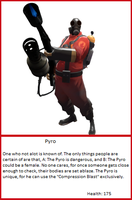 TF2 Trading Card: Pyro by UltimaWeapon13