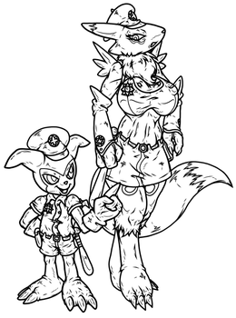 DPF - Digimon Police Forces - (Sketch/WIP) by theHyenasSBE