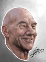 Sir Patrick Stewart by SAM---tan