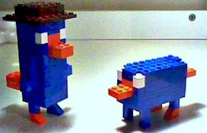 Lego perry the platypi by PhineasandferbROCK