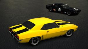 1969 Chevy Camaro Z/28 and Race Camaro Z/28 by Vertualissimo
