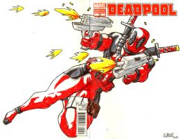 Deadpool sketch cover by Marvin000