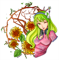 SPRING: Lineart Colour by sojourney