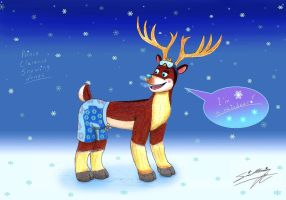 The Prince Clarence turned into Reindeer 01 by SagaFantasticArt30