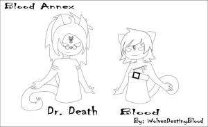 Blood Annex Line Art: Blood And Dr. Death by WolvesDestinyBlood