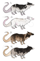 Rat creature adopts -closed - by PointAdoptsforyou