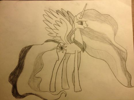 Celestia Drawing in Pencil by benzensulfonic