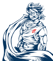 Strider Hiryu sketch by Nehis