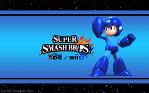 Megaman Wallpaper - Smash Bros. Wii U/3DS by AlexTHF