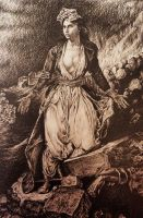 Greece on theRuins of Missolonghi -after Delacroix by AlexndraMirica