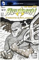 Aquaman Sketch Cover by sedani