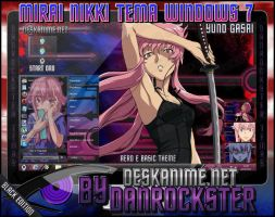 Yuno Gasai Theme Windows 7 by Danrockster