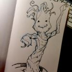 Baby Groot by Pencilbags
