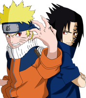 Naruto And Sasuke by JasmineBlack
