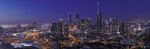 Panorama: Melbourne at Dusk by MD81