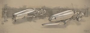 Speeder Sketches by zakforeman
