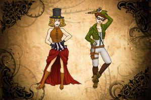 Steam Punk Fashion by Lime-Bat