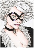 Black Cat portrait color by mhroczny