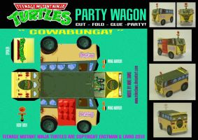 TMNT - Party Wagon by mikedaws