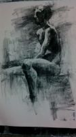 Sitting Nude by AliceTwice