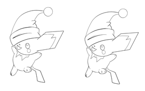 Pichu Christmas Lines by jaclynonacloudlines